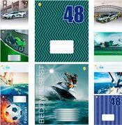 Зошит в клітинку 48 аркушів кольорова обкладинка, дизайн: Мікс  для хлопців 48КВ6 Тетрада ТЕ91591