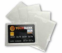 Обкладинка для банківської картки прозора ПВХ (20)