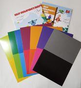Бумага цветная односторонняя А4, 7 листов 14 цветов. Цветной дуэт. В бумажном конверте. Тетрада ТЕ1185