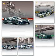 Зошит в клітинку 48 аркушів кольорова обкладинка, дизайн: Шосе Тетрада ТЕ91583