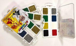 Фарби аквар ТЕТРАДА (8 кольорів) пластик/уп БЛИСКАВКА (золото + срібло) (54)