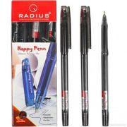Ручка масляна чорна 0.7 мм Happy Penn Radius