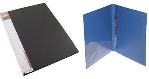 Швидкозшивач щільний А4 чорний 700 мкм матова фактура з пружиною з внутрішньою кишенею Norma 5032