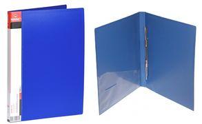 Швидкозшивач щільний А4 синій 700 мкм матова фактура з пружиною з внутрішньою кишенею Norma 5032
