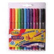 Фломастери 12 кольорів CLASS Легке змивання 2712 (12)