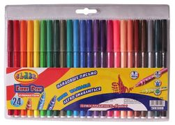 Фломастери 24 кольорів CLASS Легке змивання 2724 (12)