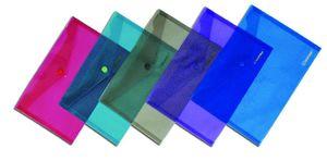 Папка конверт А4 мікс кольорів 160 мкм глянсова фактура на кнопці Norma 5016