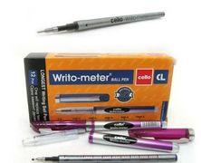Ручка масляна червона 0.5 мм 10 кілометрів Writo-meter Cello CL-8048