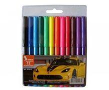 Фломастери Авто, 12 кольорів, діаметр - 8.3 мм, ФЛ45-2, УМКА 01121002 (1/12/192)