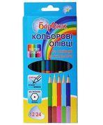 олівці кольорові,2-х стор., 12шт./24кол.,5-204/1, БАРВ 01152310 (12/240)
