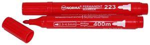 Маркер перманентний 2,5 - 4,5 мм, круглий 400 метрів, червоний 223-01N, NORMA 01160421 (12/300/120)