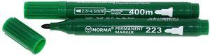 Маркер перманентний 2,5 - 4,5 мм круглий 400 метрів, зелений 223-04N, NORMA 01160424 (12/300/120)