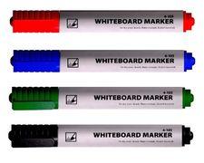 маркер д/дошок, 1-3мм, кругл.вістр., спирт.основа, червон, 4-105, 4Office 01170201 (12/720)