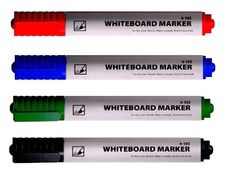 маркер д/дошок, 1-3мм, кругл.вістр., спирт.основа, зелен, 4-105, 4Office 01170204 (12/720)