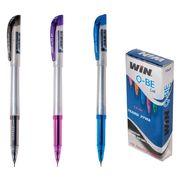 ручка гелева, 0.6мм, чорн., QBE, WIN 01190019 (12/144/172)