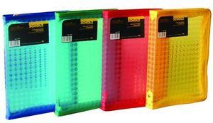 Папка на блискавці А4 мікс кольорів 550 мкм глянсова фактура на блискавці Scholz 5233