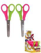 ножиці дитячі, 12,6см з лінійкою 5 см, 2-кол. ручки, 4284, CLASS 04040670 (24/480)