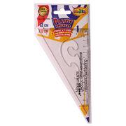 трикутник, 60 град., 13х7.5см, пластик., 9026, CLASS 10010030 (1/12/288)