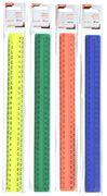 Лінійка пластикова, 30 см, непрозора, у блістері, мікс кольорів 9016, NORMA 10010560 (10/60/600)