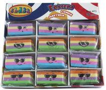 Гумка Stripes, різнокольорова, в дисплеї, асорті, 4972, CLASS 10060010 (36/864)