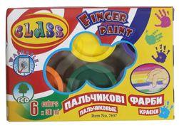 Фарби пальчикові 6 кольорів, 180 мл, 7637, CLASS 11020050 (1/24/48)