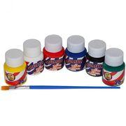 Фарби гуашеві 6 кольорів х 25 мл, з пензликом, 7639C, CLASS 11020090 (1/24/48)