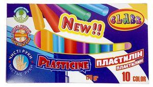 Пластилін Чисті руки 10 кольорів, ECO, 170 гр., 7626, CLASS 11060210 (1/60)