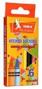 мелки  восковые, 6цв., МЛ80, УМКА (1/48/576)