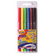 Фломастери 6 кольорів CLASS Легке змивання 2706 (12)