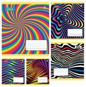 Зошит в клітинку 36 аркушів кольорова обкладинка, дизайн: Абстрактна Тетрада ТЕ51412