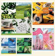 Зошит в клітинку 48 аркушів кольорова обкладинка, дизайн: Колажі Тетрада ТЕ51515