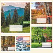 Зошит в лінію 36 аркушів кольорова обкладинка, дизайн: Природа Тетрада ТЕ52410