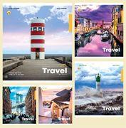 Зошит в лінію 36 аркушів кольорова обкладинка, дизайн: Travel  Тетрада ТЕ52411