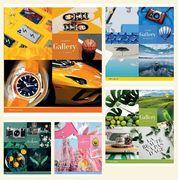 Зошит в лінію 48 аркушів кольорова обкладинка, дизайн: Кольорові колажі Тетрада ТЕ52511