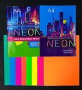 Картон кольоровий односторонній А4, 8 аркушів 8 кольорів. В паперовому конверті. Неон Family Line Тетрада ТЕ11967