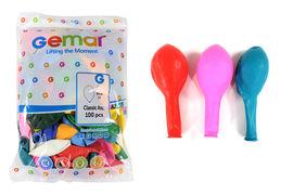 Куля повітряна стандарт 30 см різні кольори мікс 100 шт в упаковці