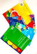 Картон кольоровий А4  (7л) 7 кол + папір кол (7л) 7кол СКОБА Тетрада (25)