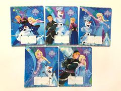 Зошит А5 (12 л/Тетрада кол Disney) клітинка серія Frozen. Best 11902 (25/250)