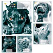 Тетрадь в клетку 18 листов цветная обложка, дизайн: Cat-dog Тетрада ТЕ01287