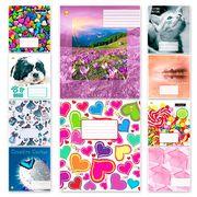 Тетрадь в клетку 18 листов цветная обложка, дизайн: Микс для девочек 18КВ3 Тетрада ТЕ01290