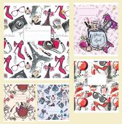 Тетрадь в линию 24 листа цветная обложка, дизайн: Девичья Тетрада ТЕ02380