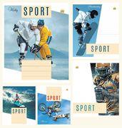Зошит в лінію 24 аркушів кольорова обкладинка, дизайн: Спорт Тетрада ТЕ02382