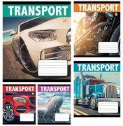 Зошит в лінію 24 аркушів кольорова обкладинка, дизайн: Транспорт Тетрада ТЕ02384