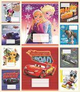 Зошит в клітинку 24 аркушів кольорова обкладинка, дизайн: Мікс 1  Disney Тетрада ТЕ12337