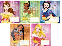 Зошит А5 (12 л/Тетрада кол Disney) кос лінія серія Princess 11930 (25/250)