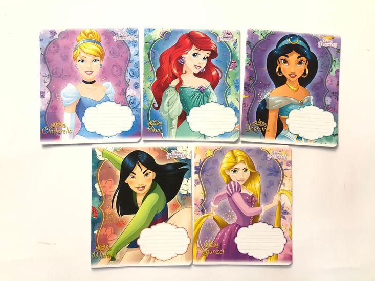 Зошит А5 (18 л/Тетрада кол Disney) клітинка серія Принцеси Діснея-1 12162 (20/200)