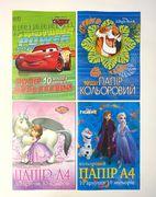 Бумага цветная А4 односторонняя 10 листов 10 цветов Disney Тетрада ТЕ12049