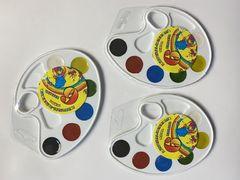 Акварельні фарби 6 кольорів, пластикова упаковка, палітра Тетрада ТЕ12498