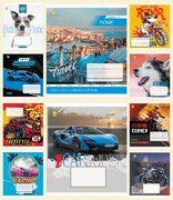 Зошит в клітинку 18 аркушів кольорова обкладинка, дизайн: Мікс. Хлопчачі 18КВ4 Тетрада ТЕ51223
