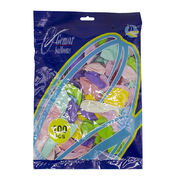 Куля повітряна пастель 25 см різні кольори мікс 100 шт в упаковці